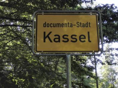 Wir sind in der documenta-Stadt Kassel