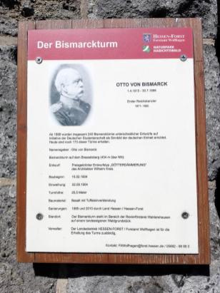 Infotafel am Bismarckturm