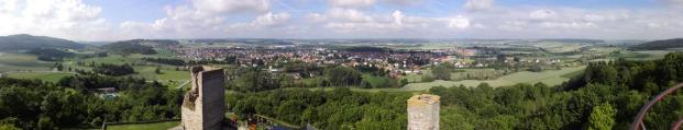 Panoramablick vom Bergfried Richtung Volkmarsen