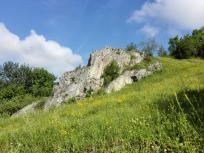 Felsformation unterhalb der Burg