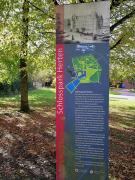 Infotafel am Schlosspark