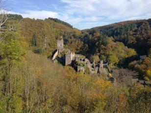 Blick auf die Niederburg von Manderscheid