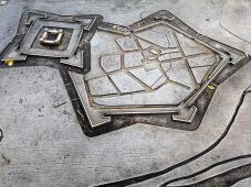 """Links die Zitadelle, rechts die ebenfalls befestigte Stadt Jülich. Gemeinsam bildeten sie die """"Festung Jülich""""."""