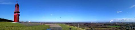 Panoramaaufnahme von der Haldenspitze