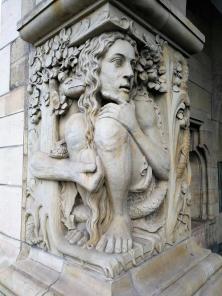 Figuren am Rathausdurchgang zum Alter Markt