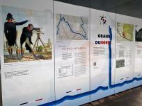 """Infotafel zum Nordkanal dem """"Grand Canal du Nord"""""""