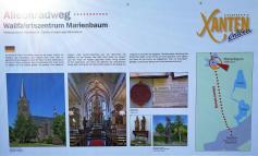 Infotafel zur Wallfahrtsgeschichte von Marienbaum