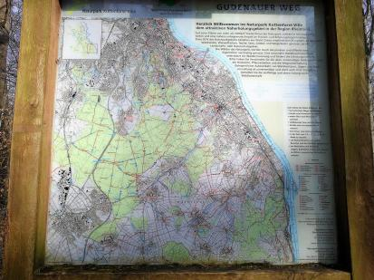 Wanderkarte des Naturparks Kottenforst-Ville am Startpunkt