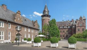Innenhof von Schloss Krickenbeck (Foto Mino1997   http://commons.wikimedia.org   Creative-Commons-Lizenz)