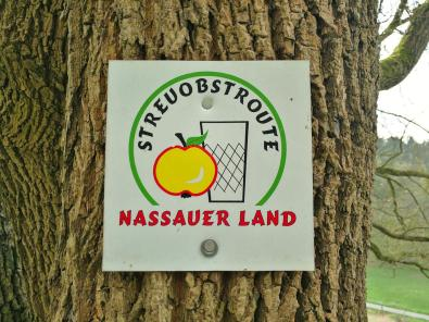 Wir folgen ein Stück weit der Streuobstroute im Nassauer Land