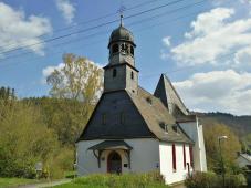 Die Liebfrauenkirche In Oberauroff, eine evangelische Pfarrkirche mit romanischem Schiff und spätgotischem Chor.