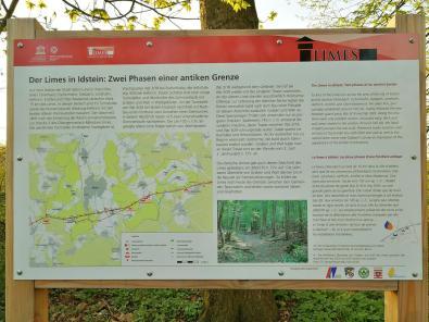 Infotafel zum Grenzverlauf des Limes rund um Idstein