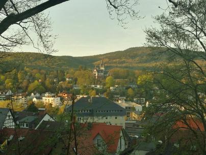 Blick über Königstein mt der Vialla Andreae im Hintergrund