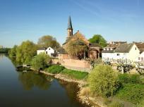 Kostheim, das letzte Dorf am Main vor der Mündung in den Rhein