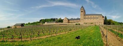Panoramabild der Abtei St. Hildegard