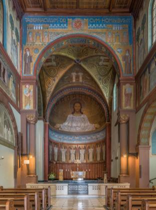 Innenraum der Abteirkirche (Foto DXR | http://commons.wikimedia.org | Lizenz: CC BY-SA 3.0 DE)