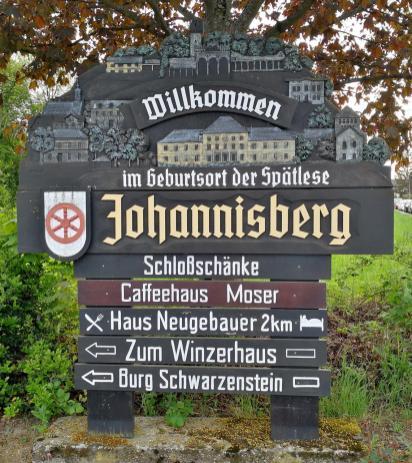 Ortsschild der Gemeinde Johannisberg