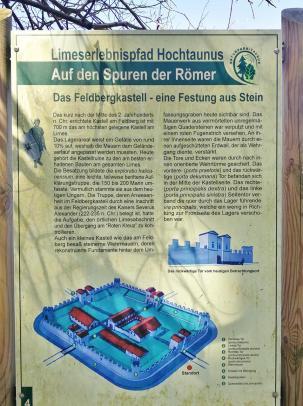 Geschichte des Römer-Kastelles unterhalb des Gipfels