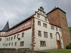 Seitenanschicht des Schlosses