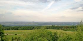 Blick von der Quastholle in Richtung Warburg (nordöstlich)