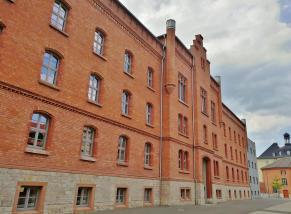 Das ehemalige Stasi-Gebäude an der Andreasstraße, heute eine Bildungs- und Gedenkstätte