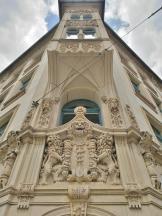 Prähtiger Erker eines Hauses am Domplatz