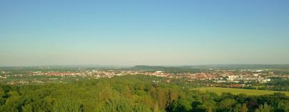 Blick nach Osten in Richtung Gotha