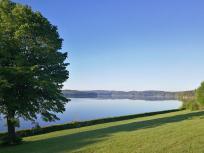Morgens an unserem Stellplatz am Möhnesee