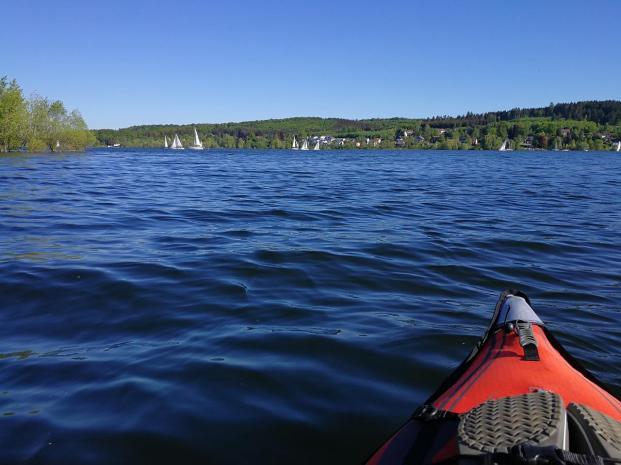 Viele Segler sind heute auf dem See unterwegs