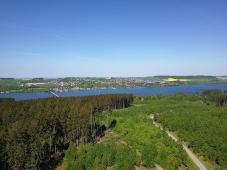 Blick von der Turmspitze nach Körbecke