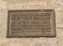 Gedenktafel für Thomas Müntzer