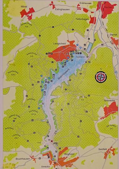 Karte des Sorpesees