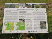 Infotafel am Schutzgebiet auf dem Kahlen Asten