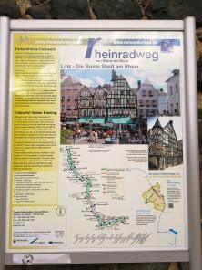 Infotafel am Rheinradweg