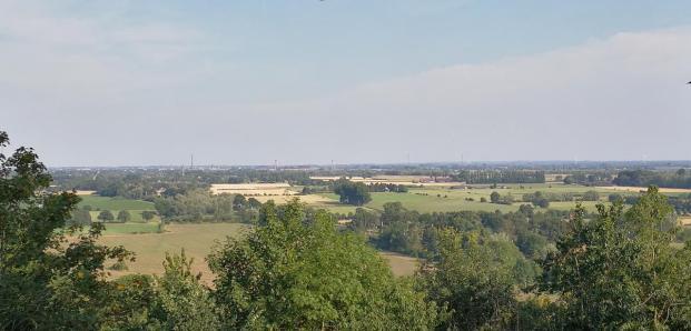 Panoramablick vom Eltenberg Richtung Emmerich