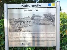 Infotafel an der alten Emsbrücke