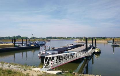 Übernachtungshafen für Rheinschiffe