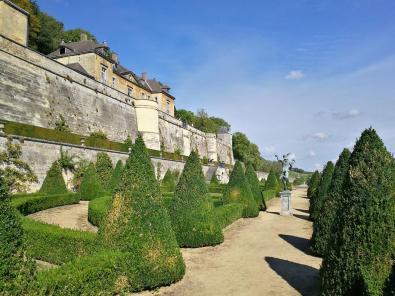 Garten unterhalb des Schlosses