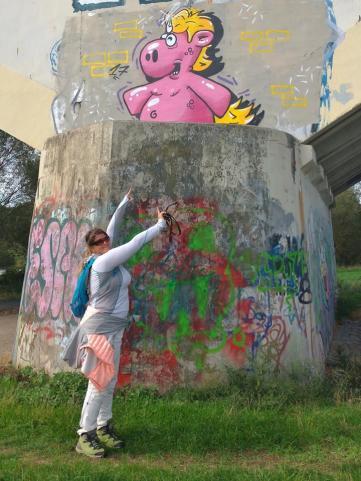 Streetart an der Ruhrbrücke bei Stiepel