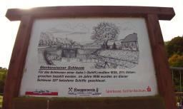 Infotafel an der alten Ruhrschleuse