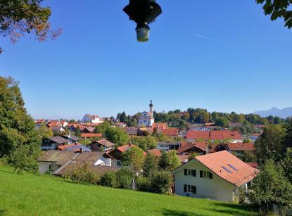 Blick auf die Innenstadt von Murnau