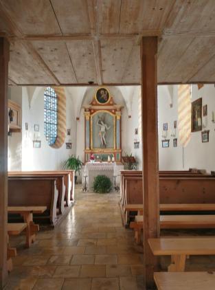Blick ins Innerer der Kapelle
