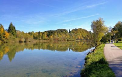 Die Isar in Bad Tölz