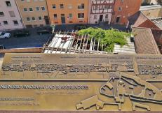 Aussichtspunkt auf der Freiung: Plan der Burg und der Altstadt