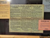 Anschläge aus der Zeit der deutschen Besatzung im Ersten Weltkierg an der Sint Pieterskerk