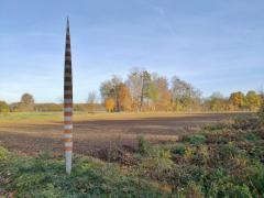 Markierung am Niersradweg in Richtung Venlo