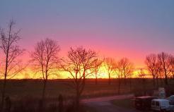 Sonnenaufgang über Horumersiel