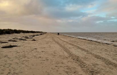 Flut am Strand von Schillig