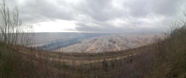 Panoramablick in den Hambacher Tagebau