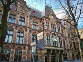 Der Justizpalast am Rande des Binnenhofes